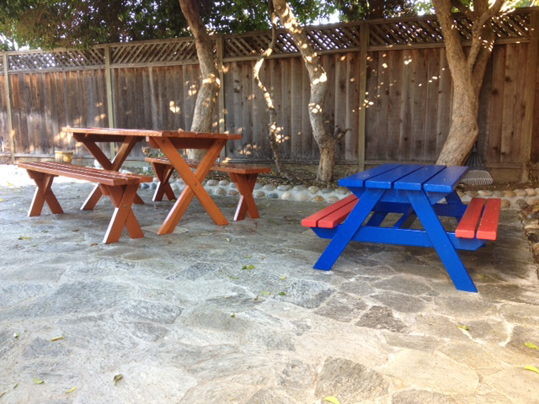 Emerald State Painting-Picnic Tables-2