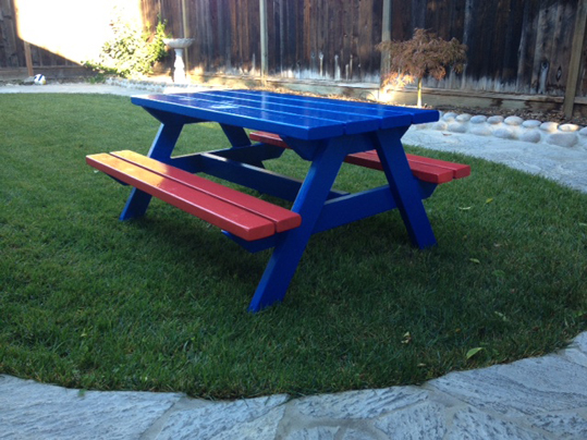 Timber Picnic Tables Emerald State Painting - Timber picnic table