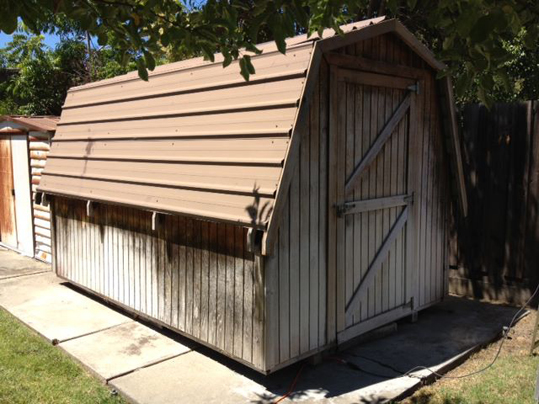 Emerald State Painting-Timber Shed-Before-1
